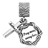 LilyJewelry Bible Dangle Charm Christian Keep Faith...