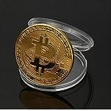 Chapado en Oro de Bitcoin Moneda de colección de Monedas Regalo Colección de Arte de Oro físico Monedas conmemorativas