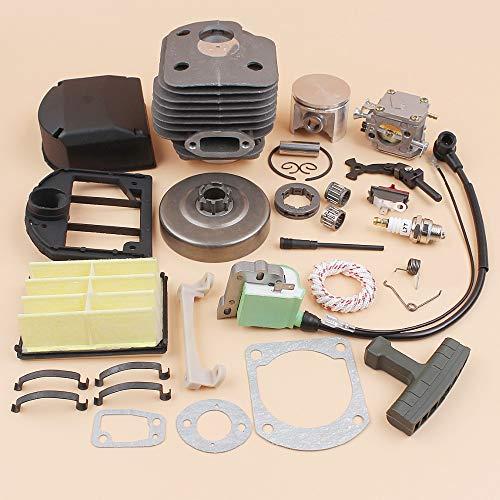 Tiempo Beixi Cilindro carburador Bobina de Encendido Cilindro del Embrague Kit de filtros de Aire Compatible con Husqvarna 268 XP 272 272XP (50 mm) Motosierra del Motor Piezas del Motor