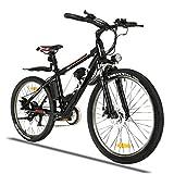 Winice E Bike Herren Ebike Mountainbike, 26 Zoll Elektrofahrrad für Erwachsene mit Abnehmbarer 36V/8Ah Batterie, Professionelles 21-Gang-Elektrofahrrad, 3 Arbeitsmodi (Schwarz)