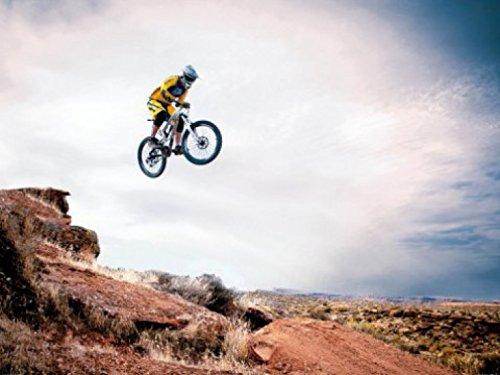 1art1 Mountain Biking - Take Me Higher, 2-Teilig Fototapete Poster-Tapete 240 x 180 cm