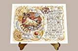 Die Staffelei Geschenk Karte Sternzeichen Widder Zeichnung mit Gedicht, 20 x 15 cm mit Aufsteller -
