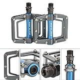 Tbest 1 Paar Fahrradpedale, Aluminiumlegierung Anti-Rutsch Fahrrad Pedale Plattformpedale Mountainbikes Radfahren Ersatzteile für
