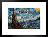 Poster Foundry UFO Sighting On A Starry Night Vincent Van