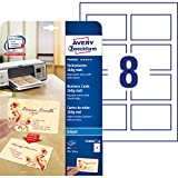 Avery España C32015-10E - Pack de 10 folios de tarjetas de visita, 85 x 54 mm, color blanco