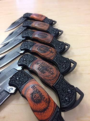 Groomsmen Gift, Set of 6, Personalized Pocket Knife, Engraved Knives, Groomsman Gift Sets, Wedding Gifts, Groomsmen Knife, Groomsman Knife, Groomsman knives, Groomsman knife