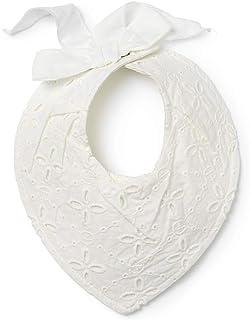Elodie Details Drybib Dregglis Haklapp i Bomull för Nyfödd och Bebis 0–12 månader - Embroidery Anglaise, Vit