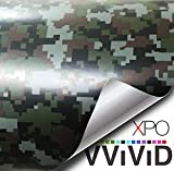 VViViD Vinyl Camouflage Pattern Wrap Air-Release Adhesive Film Sheets (3ft x 5ft, Digital Camo)