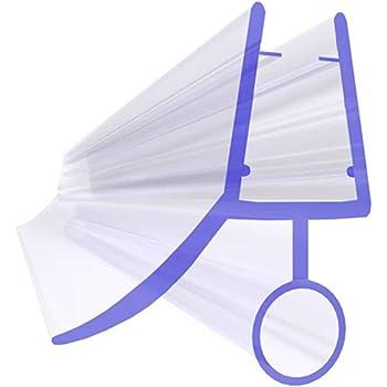 Home Standard® - Junta para mampara de ducha (grosor del cristal: 4-6 mm, longitud del ala: 12 mm, espacio entre juntas: 10 mm): Amazon.es: Bricolaje y herramientas