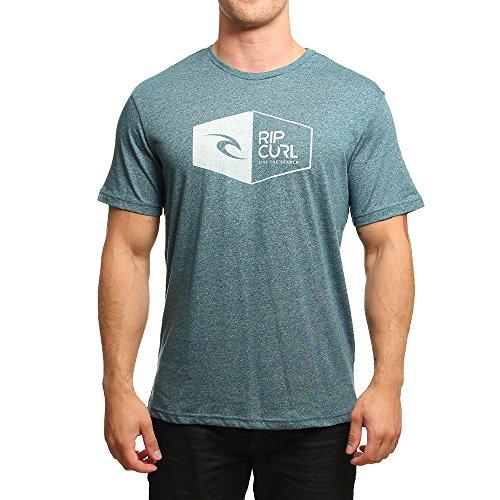 RIP CURL 3D Icon Camiseta Hombre Tapestry– Azul Tapestry Marle Talla:S (Talla del Fabricante: S)