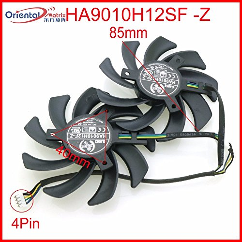 2 Pcs/lot HA9010H12SF-Z Grafikkarten-Lüfter für 12V 0.57A 85mm 40*40*40mm 4Wire 4Pin For MSI GeForce GTX1050TI GTX 1060 GTX1060 6GT OCV1 ARMOR