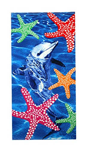 Toalla de playa de verano CTOBB de microfibra absorbente impresa toalla de baño paño de secado textil para el hogar 140 x 70, C35, 140 x 70 cm