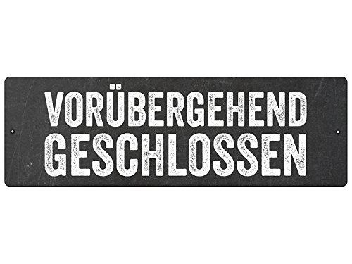 Interluxe Kunststoff-Autoschild mit Saugnapf Geschäft VORÜBERGEHEND GESCHLOSSEN *SCHWARZ*