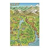 JFGJF Póster de Pintura en Lienzo con Mapa de Stardew Valley e Impresiones, Imagen artística de Pared para la decoración del hogar de la Sala de estar-20X28 Pulgadas sin Marco