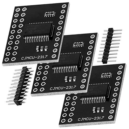 AZDelivery 3 x MCP23017 Port Expander 16-Bit-I/O Bidirektional Expander mit I2C serieller Schnittstelle kompatibel mit Arduino!