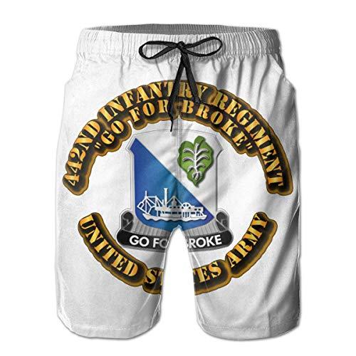 VFBGF Herrenshorts Fünf-Punkt-Hose Strandhose Freizeithose DUI - 442nd Infantry Regiment Summer Must-Have Beach Men's Beach Shorts