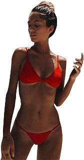 Hunzed Women【Wire Free Bikini】 Women's Plain Wire Free Triangle Bralette Bikini