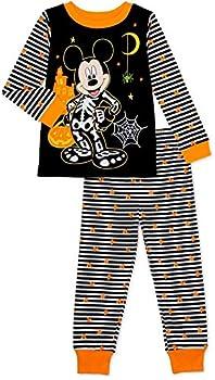 Mickey Mouse Toddler Boys Halloween Snug Fit Cotton Long Sleeve Pajamas 2-Piece PJ Set  2T-5T   Mickey Skeleton 4t