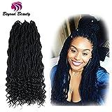 Goddess Box Braids Crochet Braids Hair with Curly ends Synthetic Kanekalon Fiber Braiding Hair 24 Inch 6Packs/lot(1B)