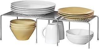 comprar comparacion mDesign Estantería metálica extensible – Crea más espacio – Práctica estantería cocina para ampliar superficie de apoyo de...