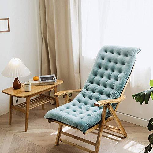 KEOA Lounge Chair Cushions Thickening Patio Rocking Chair Cushions Non-Slip Garden Sun Lounger Chair Cushion Sunbed Cushion Indoor Outdoor for Armchair-100x40x8cm Blue