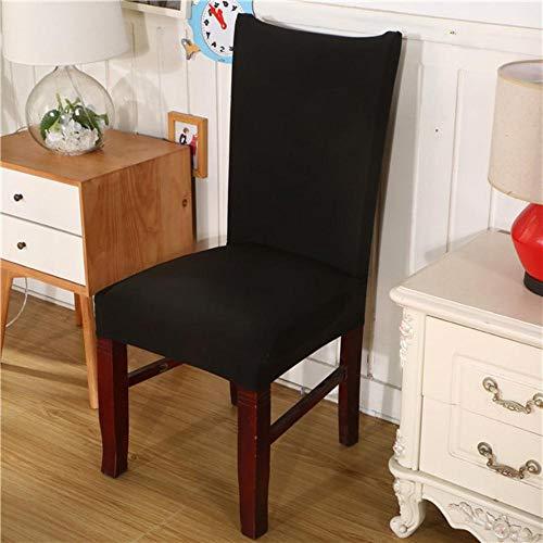 Modern Gedrukt Patroon Stoelhoezen Spandex Eetkamer Stretch Stoelhoes Stoel Beschermhoes voor Restaurant Housse de chaise, Zwart, Universeel