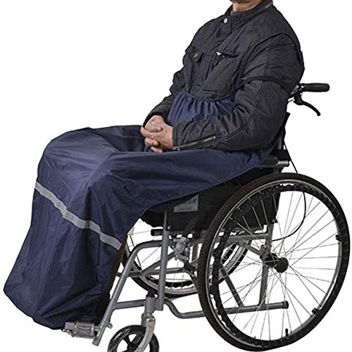MZBZYU Rollstuhl Wärmesack Mit Reflektierenden Streifen,Schlupfsack Mit Fleece Gefüttert, Winddicht Und Wasserdicht Effektive Belüftung Wärme-Sack Für Rollstuhlfahrer