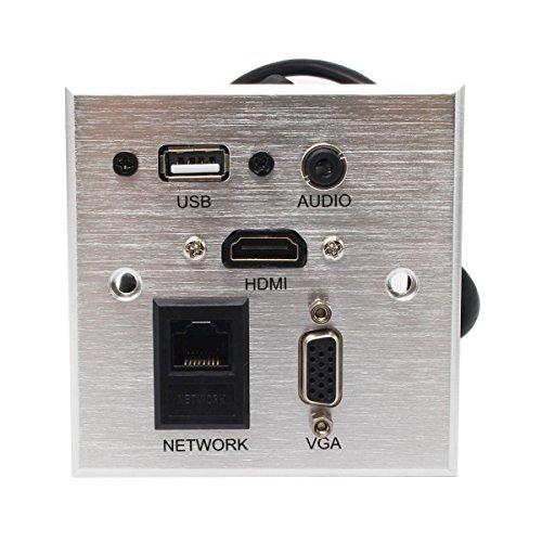 Multimedia Desk Socket Universal HDMI, USB, Network, VGA, Auido Information Outlet Box High-Grade Wall Socket Panel (Sql Server Multiple Instances Best Practices)