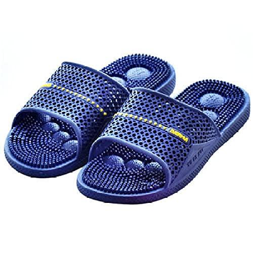 ZZLHHD Ciabatte per Massaggio ai Piedi,Soft Bottom Non-Slip Slippers, granules Massage Slippers-Deep Blue_44,Sandali per Massaggio con Digitopressione
