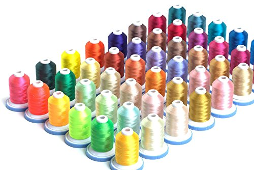 Best Bargain 48 Spools Premium Embroidery Thread w/Matching Bobbins - Kit 3