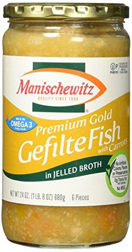 Manischewitz Premium Gold Gefilte Fish, 24 oz