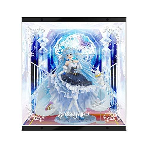 GSC Snow Hatsune 2019 Modelo Especial Cuadro de Pantalla LED Pantalla LED Mano Hecho a Mano PVC Figura Modelo Caja de visualización (Color : Up and Down Light)