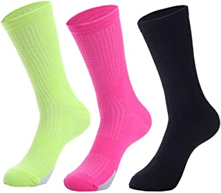 Compressprint Men and Women's Cycling Socks Sports Running Socks With Good Compression (Mixed color 02)