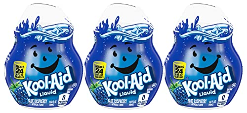 Kool-Aid Liquid Drink Mix, Blue Raspberry, 1.62 FL OZ (Pack - 3)