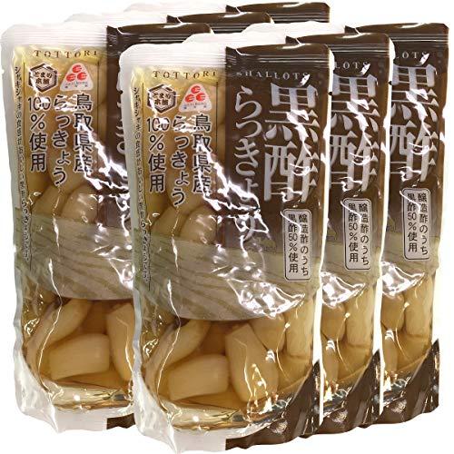 【国産100%】黒酢らっきょう 220g×6袋セット