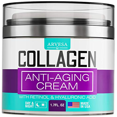 Collagen Cream  Anti Aging Face Moisturizer  Day amp Night Wrinkle Cream  Boosted with Hyaluronic Acid amp Vitamin AE  Natural Firming Cream for Fine Lines amp Wrinkles  Made in USA