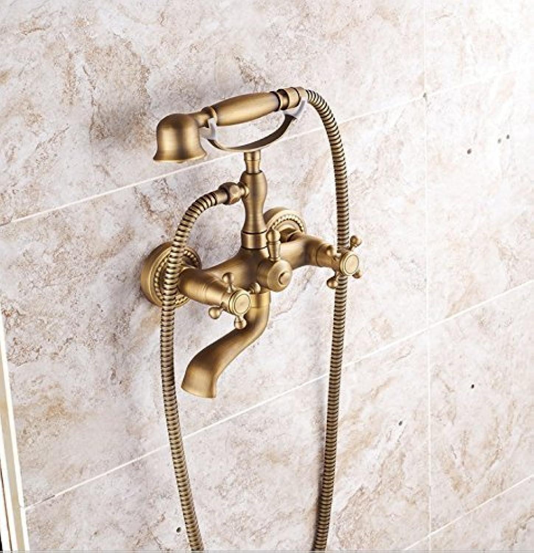 Europischen Luxus Gold Gold Antik Dusche Sprinkler Für Alle Kupfer Schlauch Bad Kalt Thermostat Handbrause Dusche
