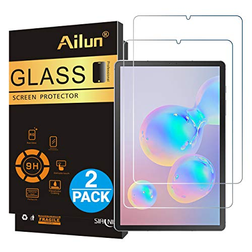 Ailun Screen Protector for Galaxy Tab S6,Tempered Glass,9H Hardness,2.5D Edge,Ultra Clear,Anti-Scratch,Case Friendly-Siania Retail Package
