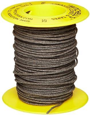 "Mitchell Abrasives 52 Round Abrasive Cord, Aluminum Oxide 150 Grit .055"" Diameter x 50 Feet"