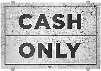 Cash Only Basic Gray Premium Acrylic Sign 27x18 CGSignLab