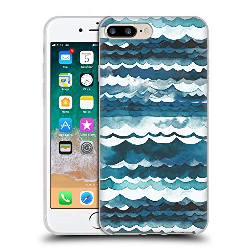 Head Case Designs Oficial Ninola Playa de Las Olas del mar Moderno 2 Carcasa de Gel de Silicona Compatible con Apple iPhone 7 Plus/iPhone 8 Plus