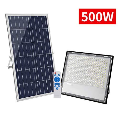 CHY Solar straatverlichting buiten, 500W afstandsbediening schemerbeveiliging verlichting voor binnenplaats, tuin, gootsteen, tuinpad