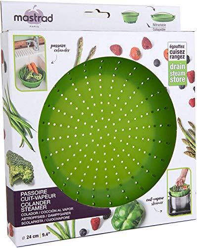 Mastrad Zusammenklappbarer Silikon-Dampfgarer und Sieb – großer Dampfgarer mit 9 Tassen – perfekt für Obst und Gemüse