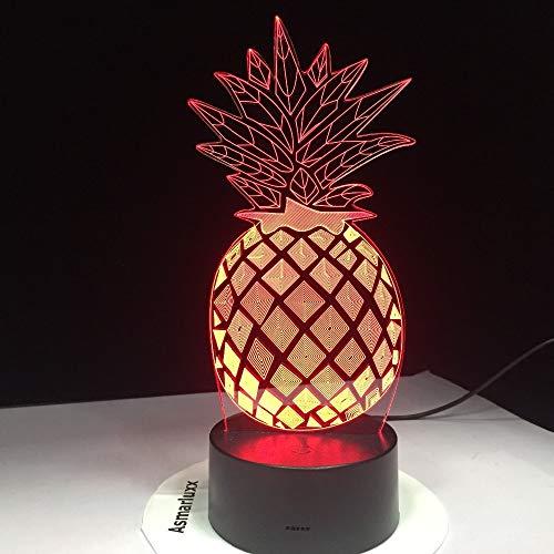 hqhqhq Luz de Noche de Pino LED 16 Colores Lámpara de ilusión óptica 3D para lámpara de Escritorio de Dormitorio Nave de la Gota Costo más bajo Calidad estándar Alta con Mando a Distancia -1314