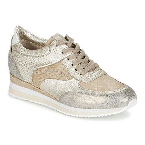 Mjus Zepper Sneakers Dames Goud - 41 - Lage Sneakers Shoes