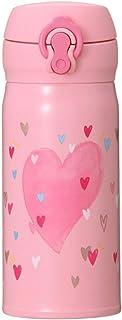 STARBUCKS スターバックス スタバ バレンタイン2019ハンディーステンレスボトルピンク350ml ハート ピンク ホワイト 真空二重構造 食器 マイボトル ロゴ イラスト 女神 コーヒー