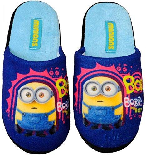 MINIONS Kinder Hausschuhe Pantoffeln Schuhe Gr. 27-34 Neu (29/30, blau)