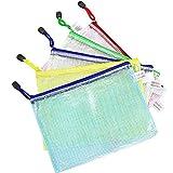 Wskderliner Dokumententasche A5 Klett Zip Beutel Reissverschluss Mesh Bag Farbig Plastic Zipper Tasche Packung von 10
