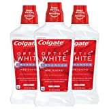 Colgate Optic White Alcohol Free Whitening Mouthwash, 2% Hydrogen Peroxide, Fresh Mint - 946mL, 32...