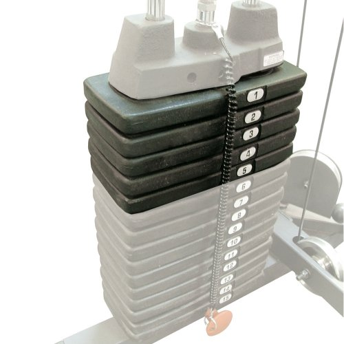 Body Solid Home Gym 50-Pound Extra Weight Stack ✅